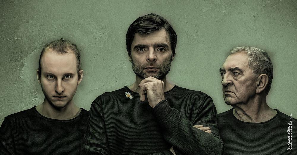 aktorzy Marcin Bubółka, Grzegorz Falkowski i Jerzy Trela
