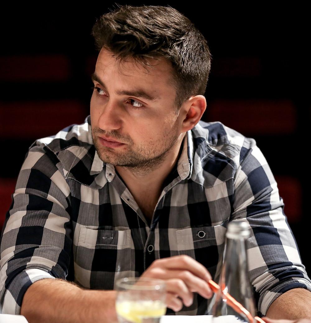 Radomir Rospondek w trakcie prób do spektaklu