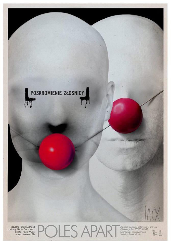 Afisz przedstawienia POSKROMIENIE ZŁOŚNICY w reżyserii Briana Michaelsa