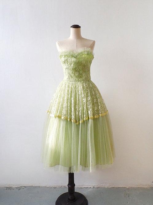 1950s Le Citron Vert Prom Dress