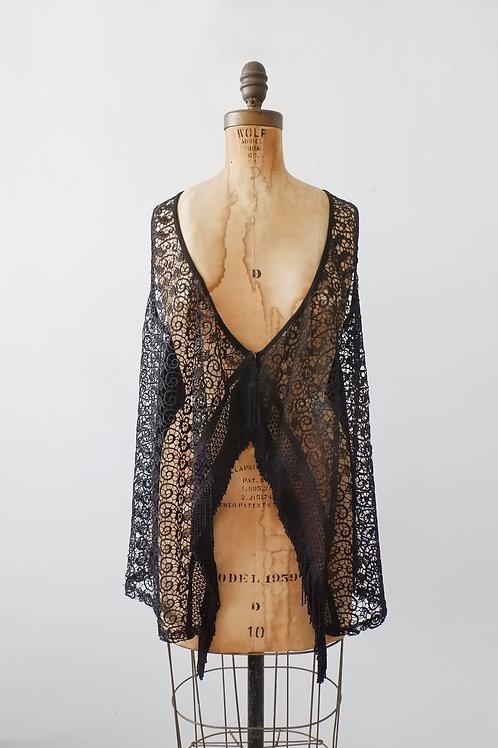 1970s Boho Crochet Vest