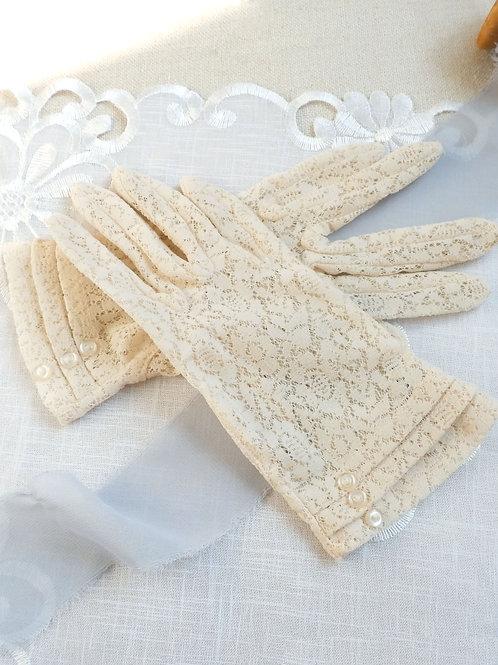 Vintage Victorian Dance Gloves