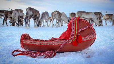 Komse, a Sami cradleboard