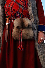 Traditional Sami women's outfit