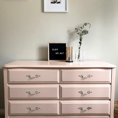 Soft Pink, French Provincial Dresser