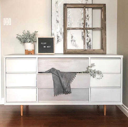 Mid Century Dresser meets Rustic Up Cycle
