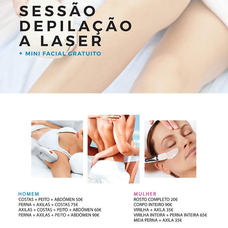 Depilação Laser + (oferta) mini facial