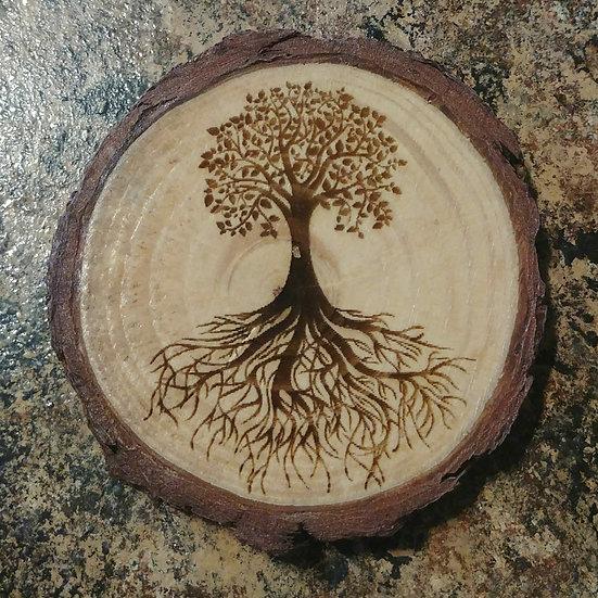 Tree Live Edge Wood Coaster