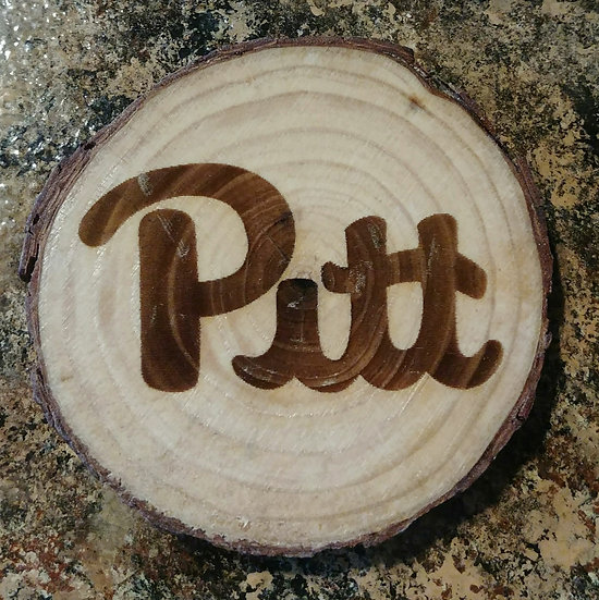 Pitt Live Edge Wood Coaster