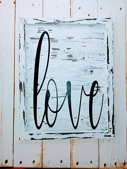 Love Rustic Wall Sign