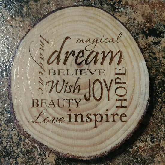 Magical Dream Live Edge Wood Coaster