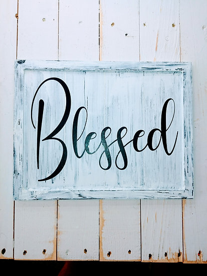 Blessed Rustic Wall Sign