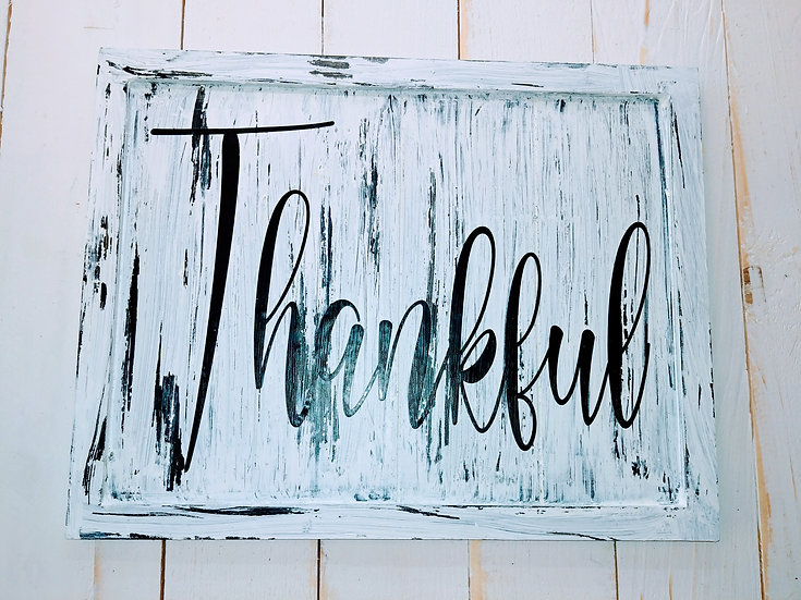 Thankful Rustic Wall Sign