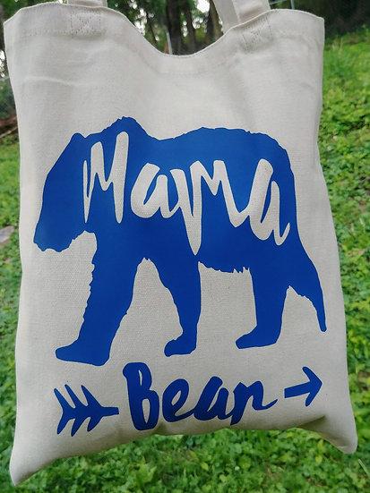 Mama Bear Canvas Tote Bag