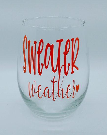 Sweater Weather Stemless Wine Glass