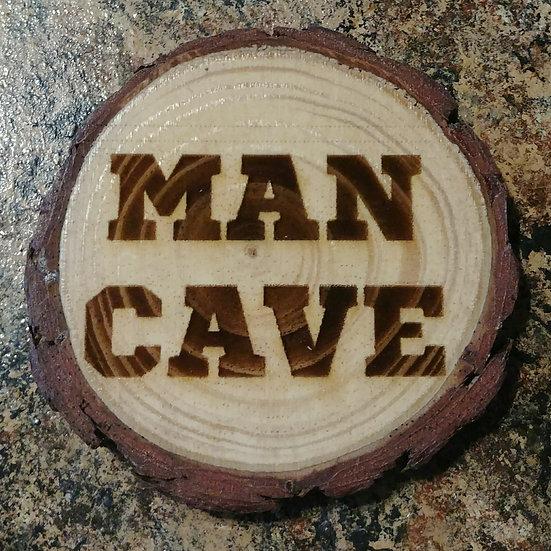 Man Cave Live Edge Wood Coaster