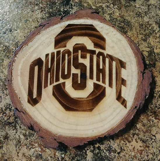 Ohio State Live Edge Wood Coaster
