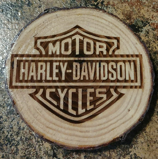 Harley Davidson Live Edge Wood Coaster