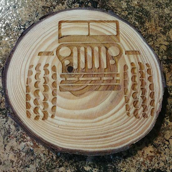 Jeep Live Edge Wood Coaster