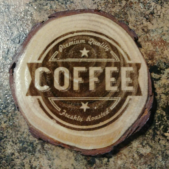 Coffee Live Edge Wood Coaster