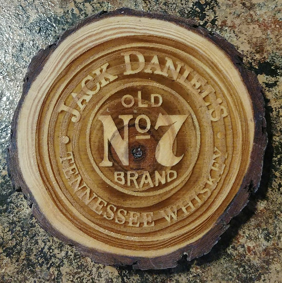 Jack Daniels Live Edge Wood Coaster