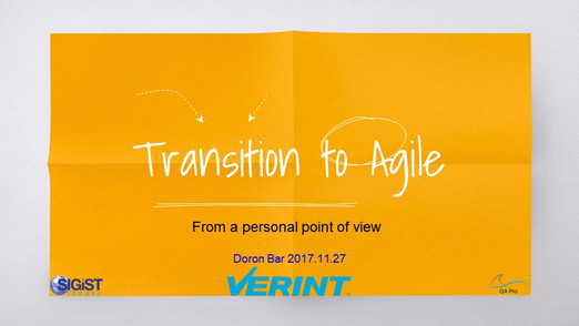 Transition to Agile (presentation)