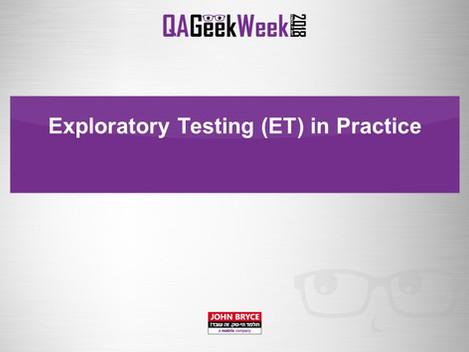 Exploratory Test in Practice