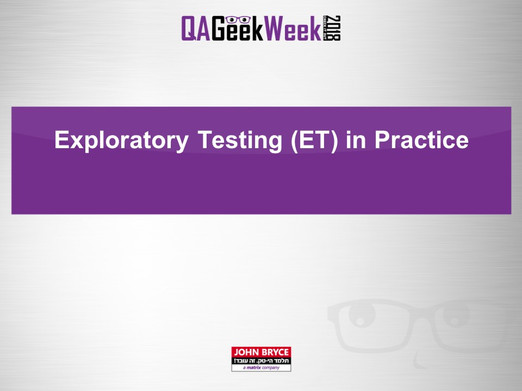 Exploratory Test in Practice