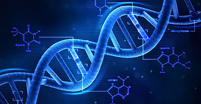 Picture of dna and biochemical molecules to show metabolic typing and testing goes to a very deep level.
