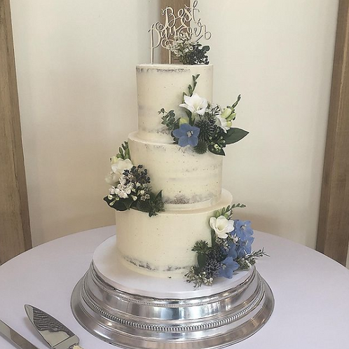 2 Tier Semi Naked Wedding Cake