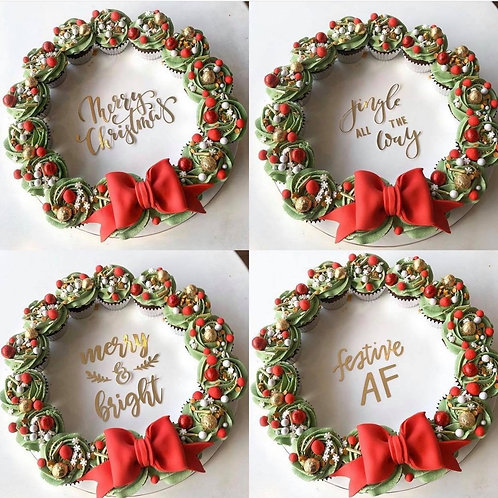 Traditional Wreath Cupcakes