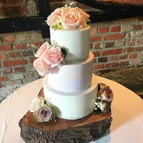Fondant Floral Wedding Cake