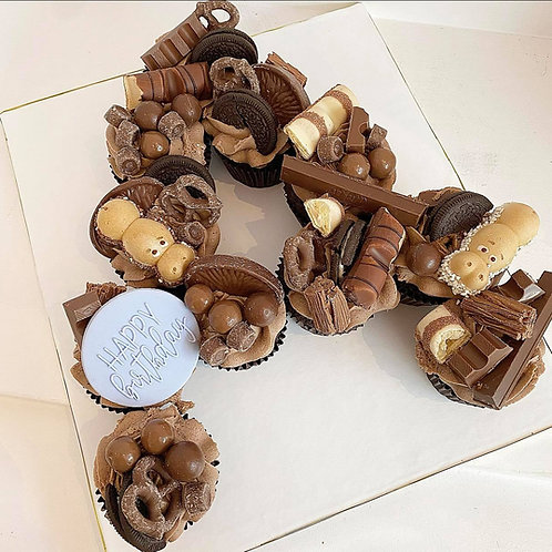 Chocolate Overload Cupcake Letter