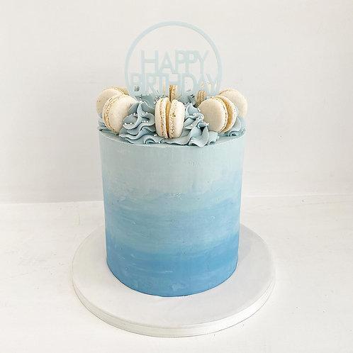 Ombre Macaron Cake