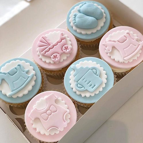 Baby Themed Cupcakes