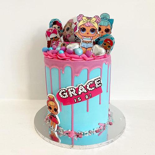 Character Drip Cake