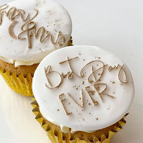 Personalised Wedding Favour Cupcakes