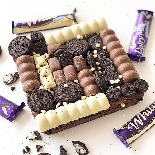 Giant Cookies & Cream Brownie
