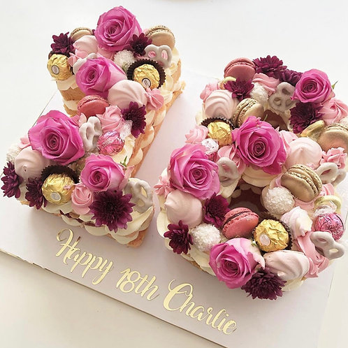 Floral Double Number Cake
