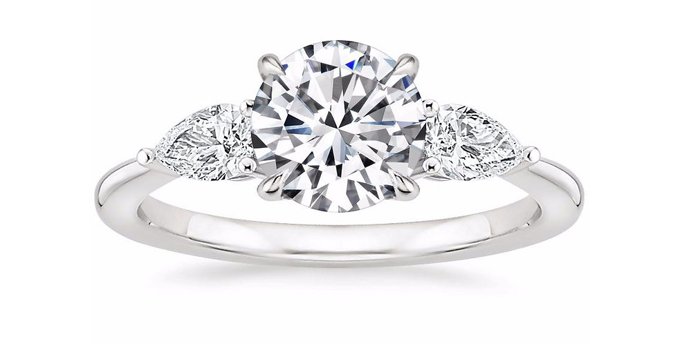 """LAYLA"" ROUND DIAMOND THREE STONE ENGAGEMENT RING"