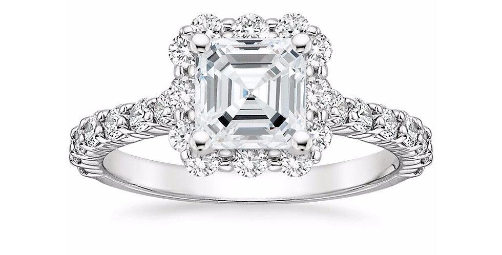 """""""LANA"""" ASSCHER DIAMOND HALO ENGAGEMENT RING"""