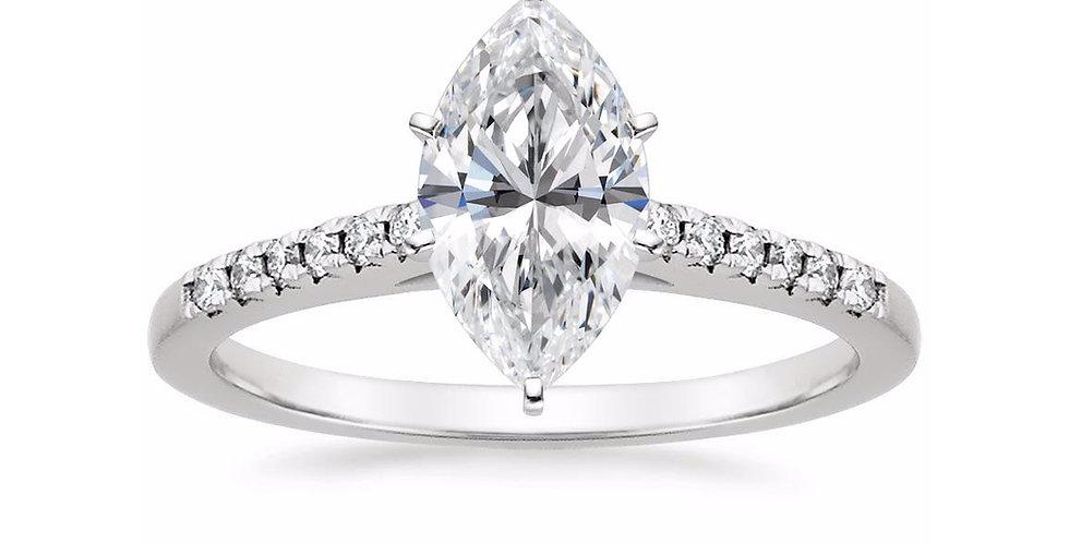 Marquise Diamond Lessie Engagement Ring