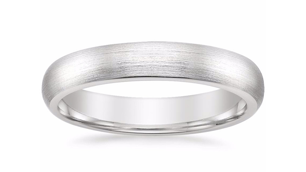 MATTE CLASSIC WEDDING RING (4 MM)