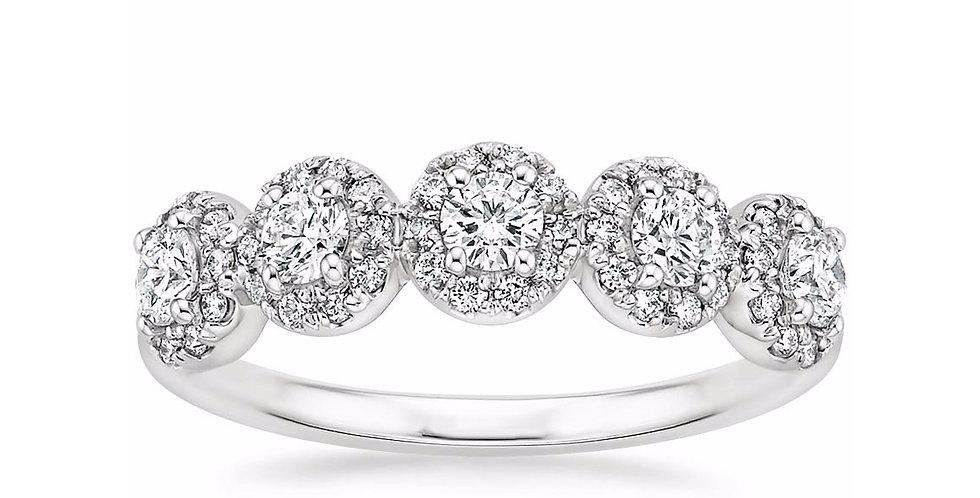 """SCARLETT"" DIAMOND WEDDING RING"
