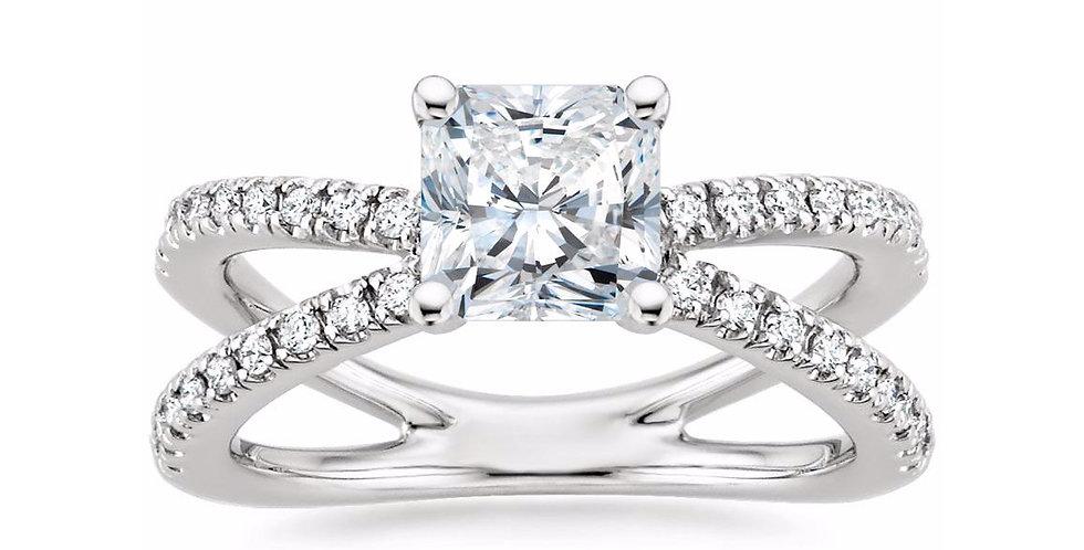 """LAURA"" RADIANT DIAMOND DESIGNER ENGAGEMENT RING"