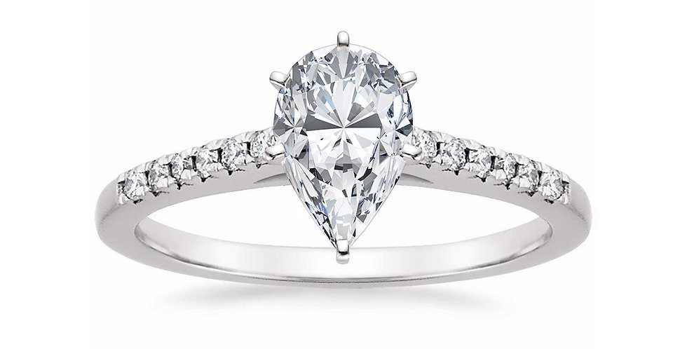 Pear Diamond Lessie Engagement Ring