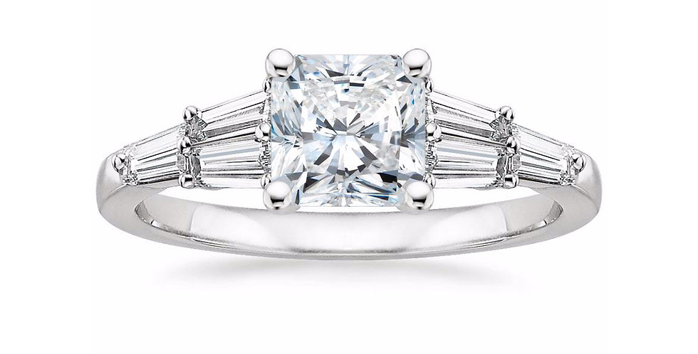 """LEA"" RADIANT DIAMOND DESIGNER ENGAGEMENT RING"