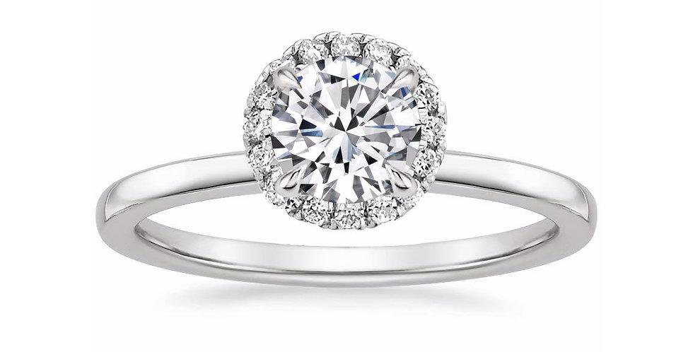 """LIZZIE"" ROUND DIAMOND HALO ENGAGEMENT RING"