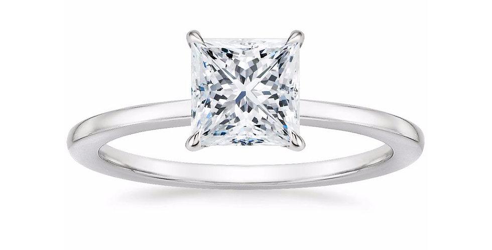 """LEONA"" PRINCESS DIAMOND ENGAGEMENT RING"