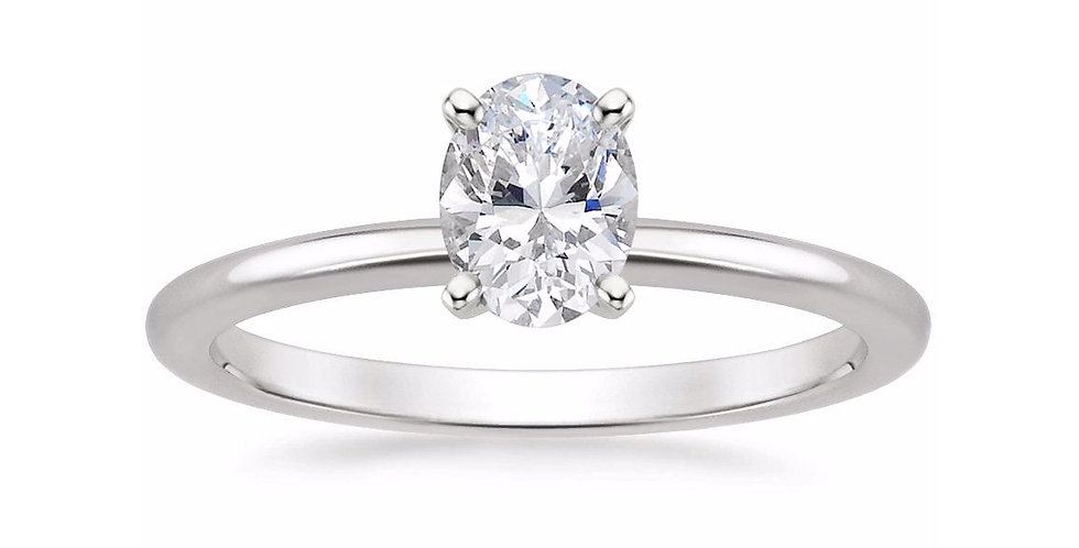 OVAL DIAMOND FOUR-PRONG SOLITAIRE ENGAGEMENT RING